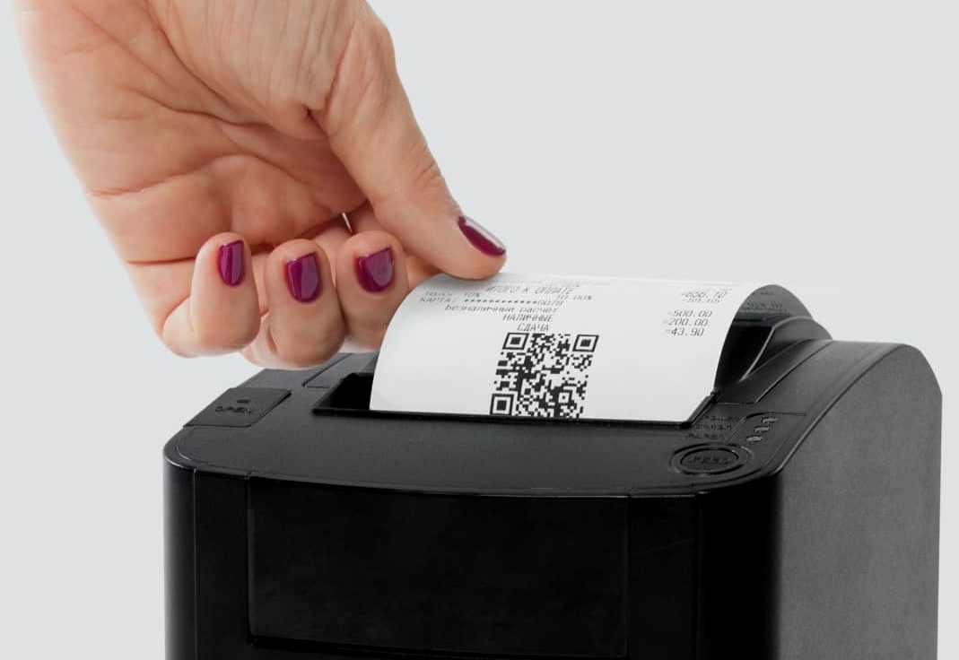 Распечатать бумажный чек