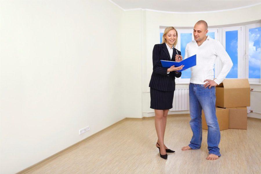 Осмотр помещения для аренды