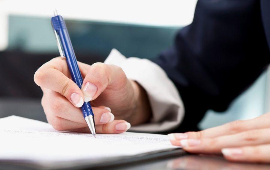 Подписание договора на услуги