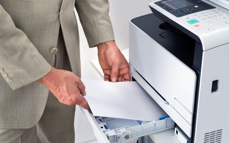 Документация распечатывается и сканируется