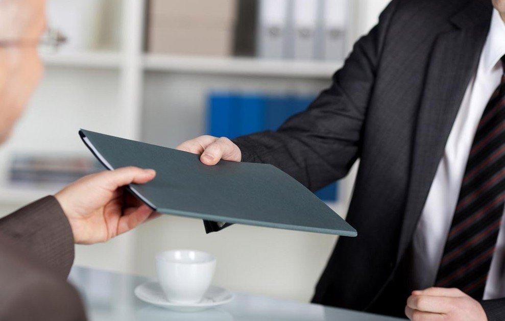 Подача документации предпринимателем