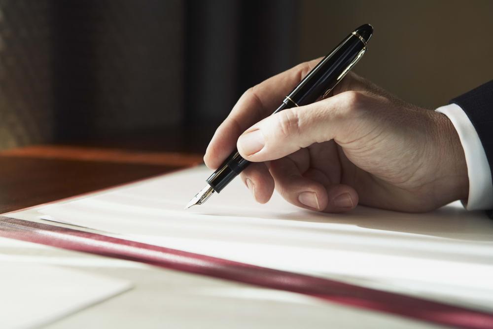 Ставить подпись в документе